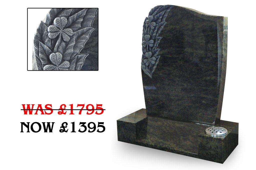 Green half anton headstone offer