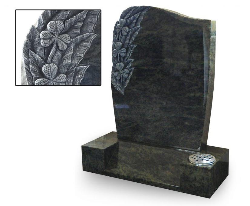 Shamrock headstone